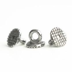 Кнопка лінгвальна бондируєма, металева з петелькою